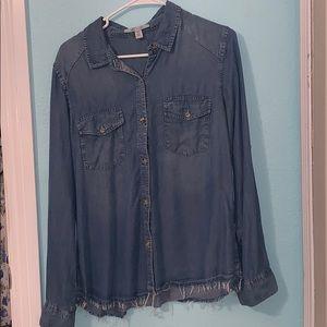 Francesca's Jean blouse